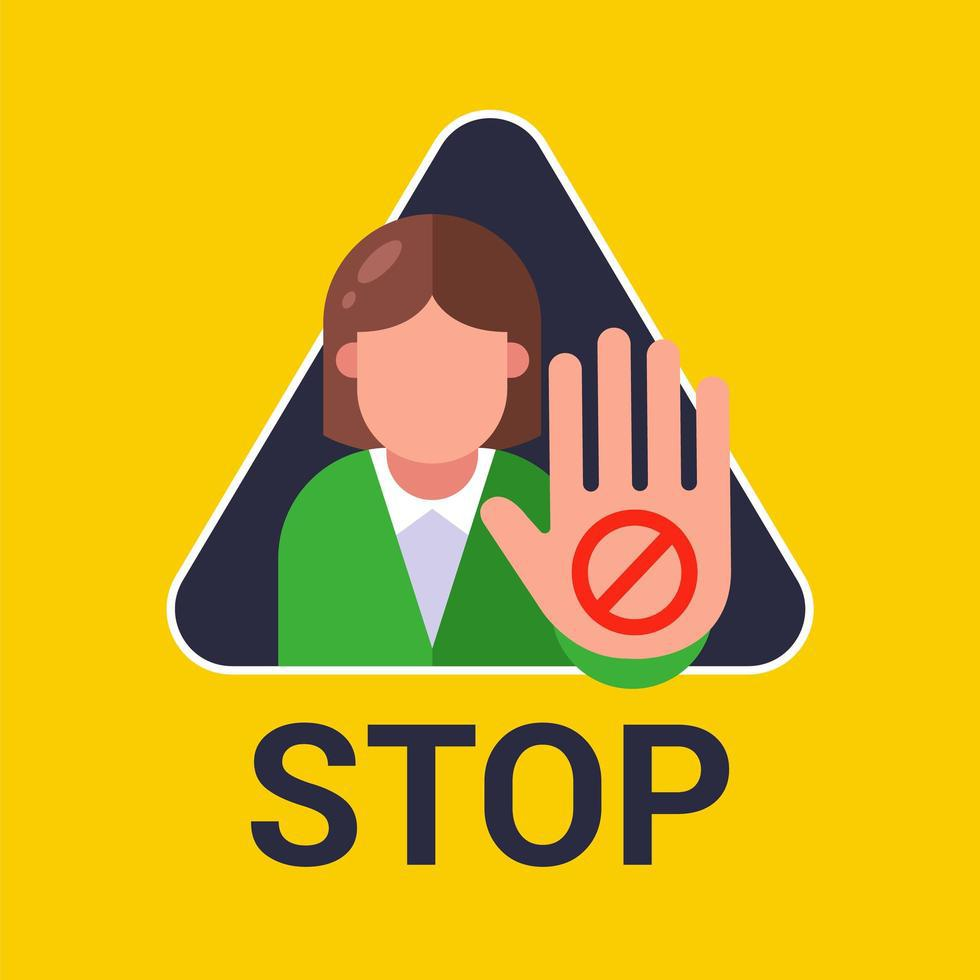 woman-shows-hand-stop-sign-vector